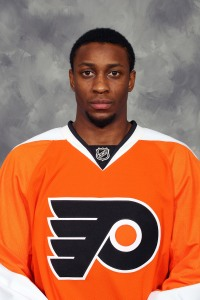 Philadelphia Flyers' Wayne Simmonds, a King client.