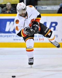 Jordan Subban is waiting for his shot at the NHL. (Photo by Aaron Bell/OHL Images)