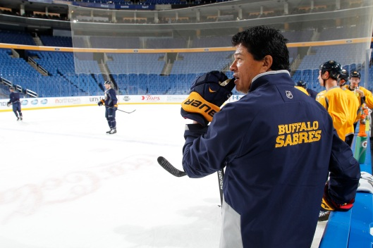Ted Nolan won't be back behind the Sabres bench in 2015-16. The team fired him on Sunday. (Bill Wippert, Buffalo Sabres)