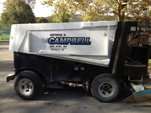 Built in 1973 and bought used, Clark Park's old Zamboni can finally retire.