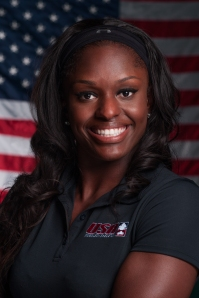 USA Bobsled team member Aja Evans.