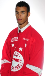 Soo Greyhound's Darnell Nurse.