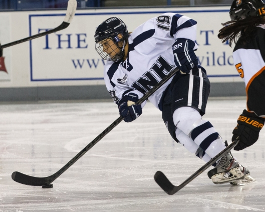 UNH's Cassandra Vilgrain has her dad's game and number.