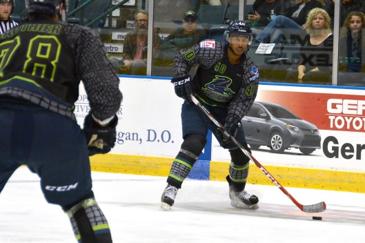 ...which helped launch Burt's pro career. He's a defenseman for the ECHL's Florida Everblades (Photo/Al Larson).