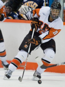 Detroit Hockey Association alum Cameron Burt earned a scholarship to RIT...