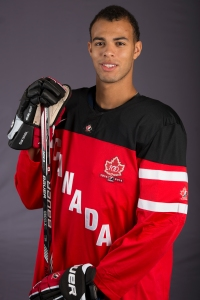 Defenseman Darnell Nurse has a monster IIHF tournament for Canada (Matthew Murnaghan/Hockey Canada Images).