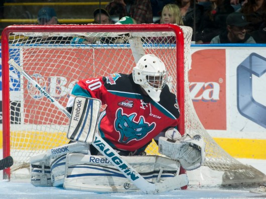 Born in Haiti and raised in Canada, Michael Herringer helped backstop the Rockets to the WHL championship (Photo by Marissa Baecker/Kelowna Rockets).