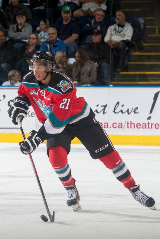 The Buffalo Sabres think they've found a jewel in Kelowna's Devante Stephens (Photo: Marissa Baecker/Kelowna Rockets)