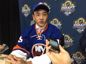 China's Andong Song at 2015 NHL Draft (Photo/William Douglas/Color of Hockey).
