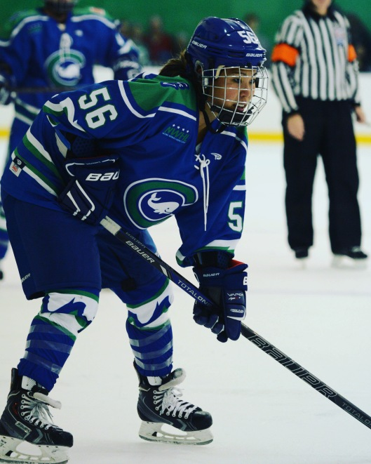 When not leading the Connecticut Whale, forward Jessica Koizumi is an assistant women's hockey coach at Yale University.