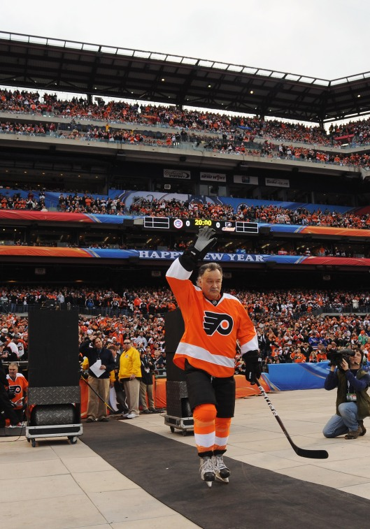 "Philadelphia Flyers fans haven't forgotten the ""Riverton Rifle."" Is he Hockey Hall of Fame-worthy? (Photo/Noah Graham/NHLI via Getty Images)"