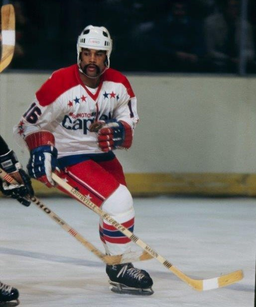 Mike Marson scored 16 goals in his rookie season with the Capitals in 1974-75. (Photo/Washington Capitals archives).
