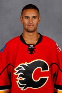 NHL 2015 draftee Oliver Kylington made his debut with the Calgary Flames in early April.