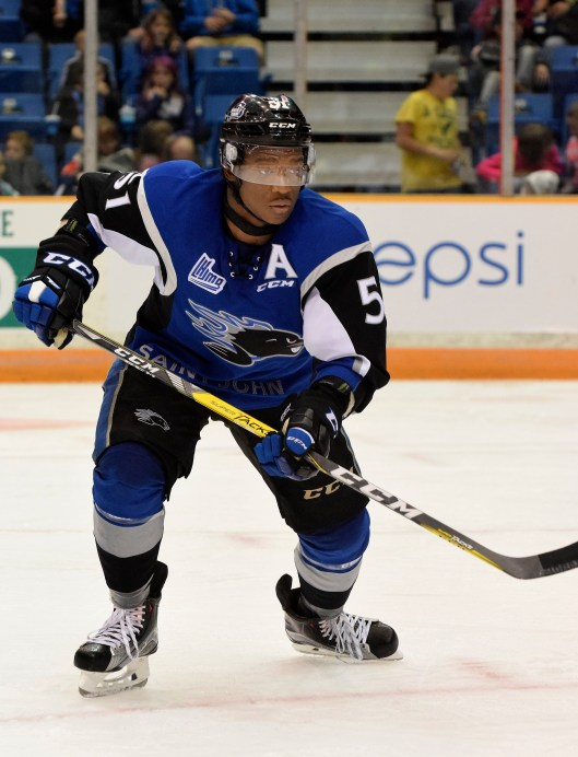 Thanks to summer work on his shooting and skating, Saint John Sea Dogs forward Bokondji Imama a scoring threat this season (Photo/St. John Sea Dogs).